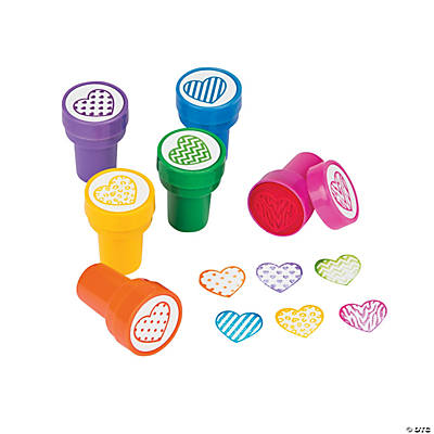 Patterned Heart Stampers