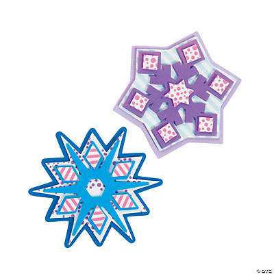 Patterned Snowflake Magnet Craft Kit