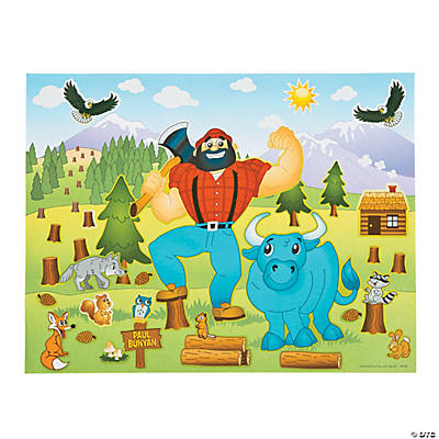 Paul Bunyan Sticker Scenes
