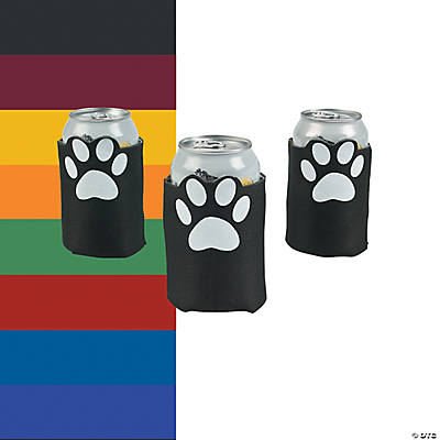 Paw Print Can Coolers