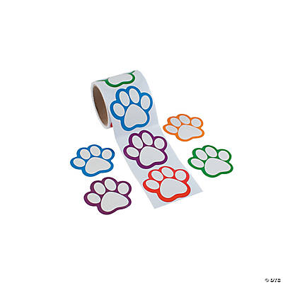 Paw Print Name Tags/Labels