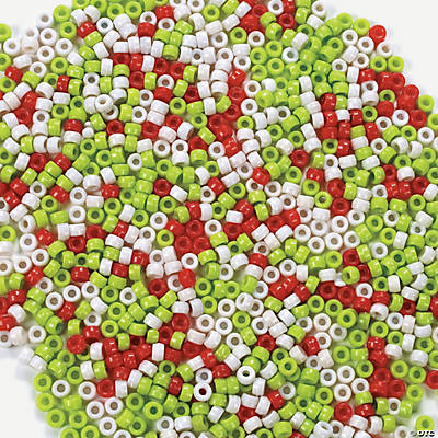 3000 Pc. Christmas Pony Bead Assortment - 3/8""
