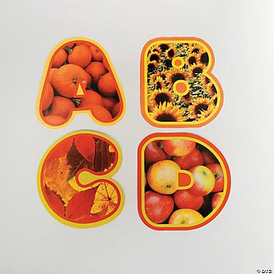 672 Pc. Fall Harvest Bulletin Board Jumbo Alphabet Letter Set