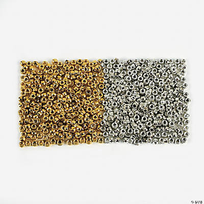 4000 Pc. Gold & Silver Pony Bead Assortment