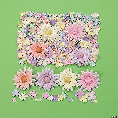452 Pc. Pastel Paper Flower Assortment