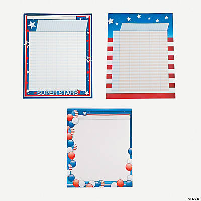 3 Pc. Patriotic Chartlet Set