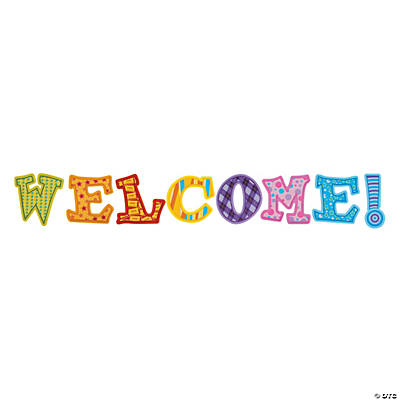 8 Pc. Welcome! Letters Bulletin Board Set