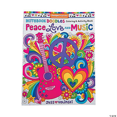 Peace, Love & Music Coloring Book