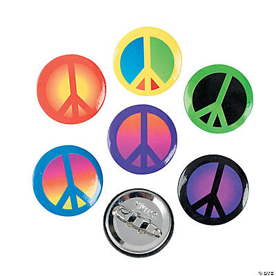 Peace Sign Mini Buttons