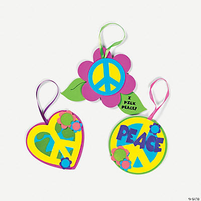 Peace Sign Ornament Craft Kit