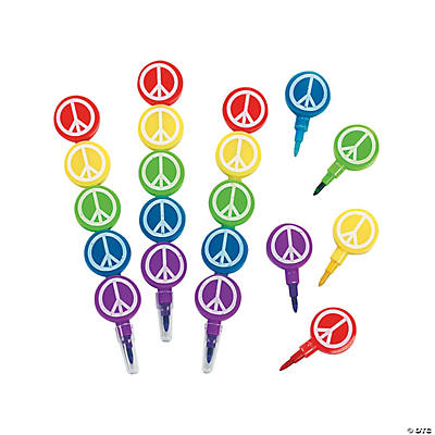 Peace Sign Stacking Crayons