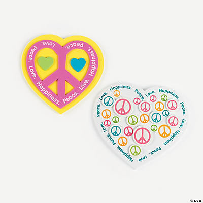 Peace Sign Valentine Magnets Craft Kit