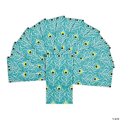 Peacock Feather Guest Towels