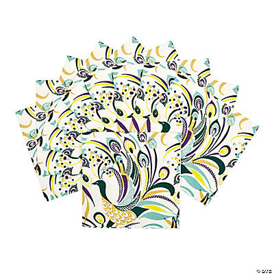 Peacock Swirl Beverage Napkins