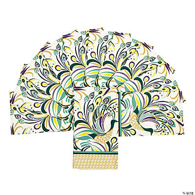 Peacock Swirl Guest Towels