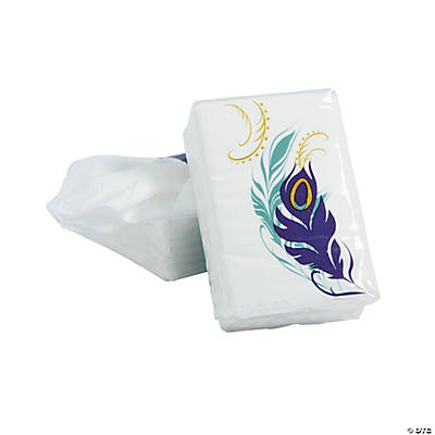 Peacock Wedding Facial Tissue Packs