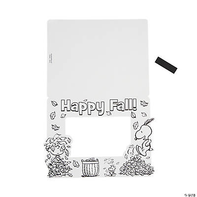 Peanuts® Color Your Own Fall Picture Frame Magnets