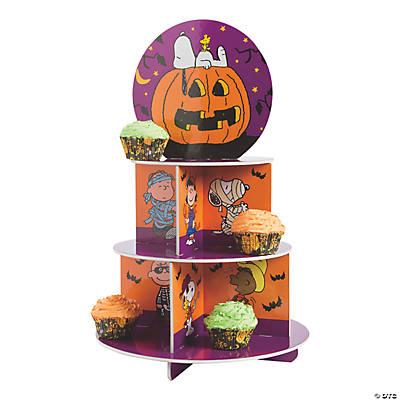 peanuts halloween cupcake stand - Halloween Cupcake Holder