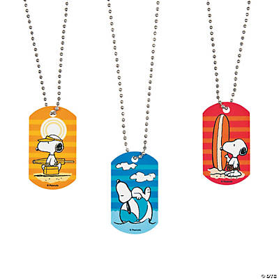 Peanuts® Summer Metal Dog Tag Necklaces