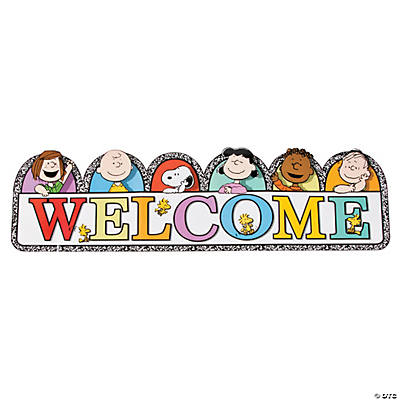 Peanuts<sup>®</sup> Multicolor Welcome Banner