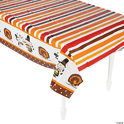 Superb Peanuts® Thanksgiving Plastic Tablecloth