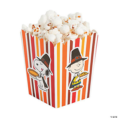 Peanuts thanksgiving popcorn boxes~13703101