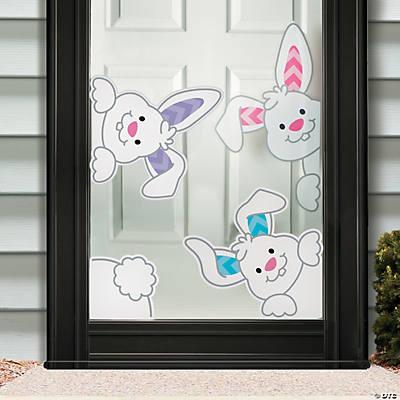 peeking bunnies window clings - Window Clings