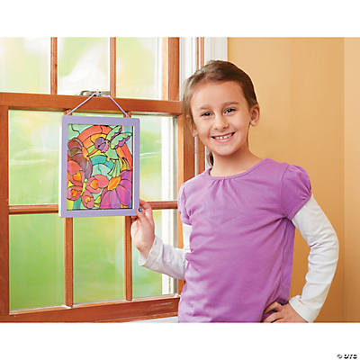 Peel & Stick Gel Rainbow Garden Stained Glass Kit