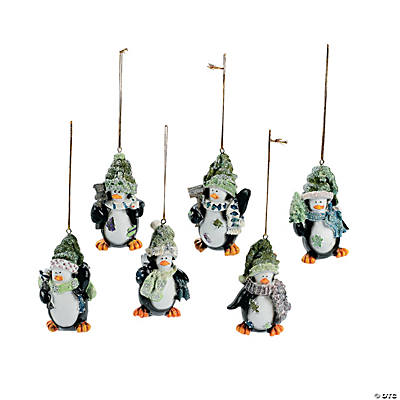 Penguin Christmas Ornaments - 6 pcs.