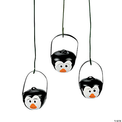 Penguin jingle bell ornaments oriental trading for Jingle bell christmas ornament crafts