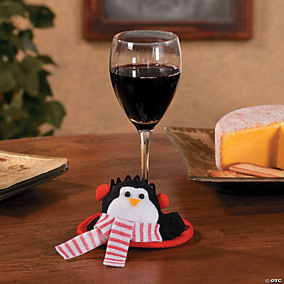 Penguin Wine Glass Coasters