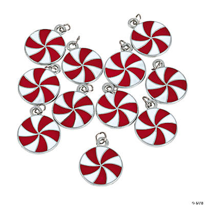 Peppermint Enamel Charms