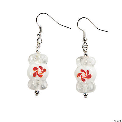 Peppermint Lampwork Earrings Kit