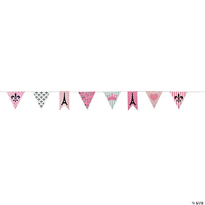 Perfectly Paris Paper Pennant Banner