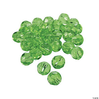 Peridot Cut Crystal Round Beads - 8mm