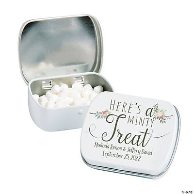 Personalized Adventure Wedding Mint Tins