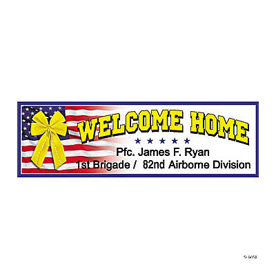 personalized �welcome home� banner md oriental trading