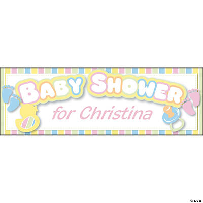 Personalized Baby Shower Banners - Large