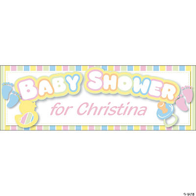Personalized baby shower banners medium Baby shower banners