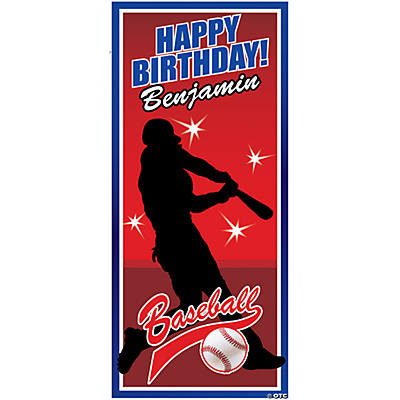 Personalized Baseball Party Door Cover