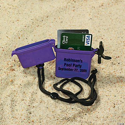 Personalized Beach Safe Containers - Purple