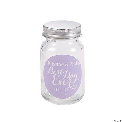 Personalized Best Day Ever Mini Mason Jar Favors