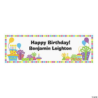 Personalized Birthday Celebration Banner - Medium