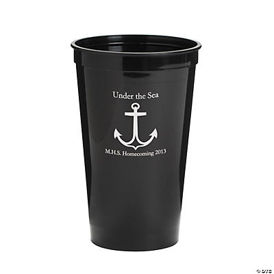 Personalized Black Anchor Tumblers