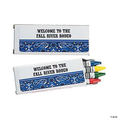 Personalized Blue Wild West Crayon Boxes