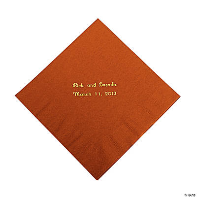 Personalized Brick Luncheon Napkins