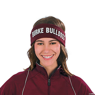 Personalized Burgundy Headbands
