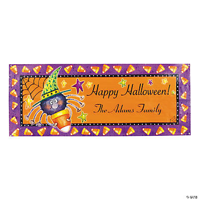 Personalized Candy Corn Spider Banner - Small