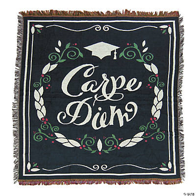 Personalized Carpe Diem Grad Throw Blanket