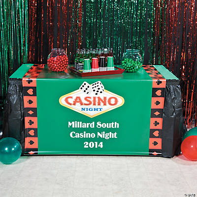 Personalized Casino Night Table Runner